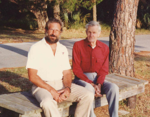 Photograph of Anthony and William Leisner, taken in about 1983.